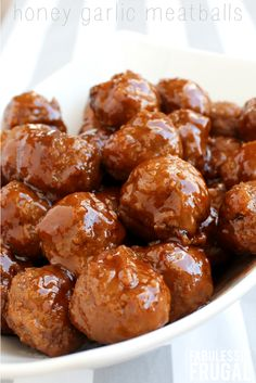 These honey garlic meatballs are always a hit! Slow cooker or Instant Pot recipe! This is an effortless, afforable meal that everyone will love.