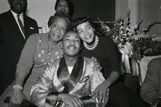 Martin Luther King Jr. with his mother, Alberta Williams King and his wife Coretta Scott King at Harlem Hospital in 1958. Dr. King was recovering from a stab wound after an attack by a disturbed woman.