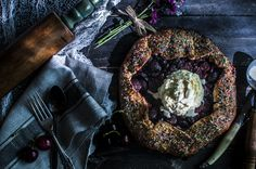 Paleo Cherry Bomb Galette made with Otto's Naturals Cassava Flour | Between Two Forks