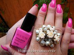Esmalte Avon Viva Pink www.blogcasademaria.com.br