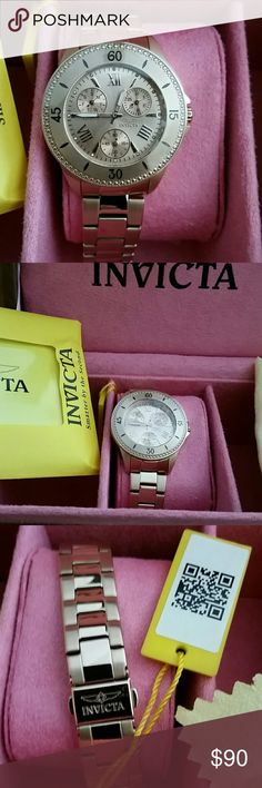 """INVICTA Angel Copper Color Women's Watch BNIB INVICTA Angel Copper/Muted Gold Color Women's Watch. BNIB *Brand New, Plastic on face still, never worn, All paperwork and warranty info included* *Box Included* Beautiful quilted box with watch holder included* 100% Authentic  Model No: 21684 100M Water Resistant  Japan Movement  Trinite Night Glow All Stainless Steel  **Price IS ABSOLUTELY firm** *If you """"ask"""" me to lower, I Will block you. If you """"make an offer"""" I WILL block you* *Price CAN be…"""