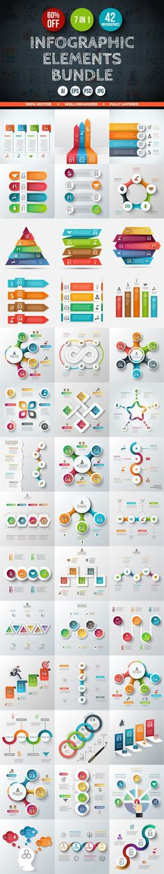 60% OFF Infographic Elements Bundle. Business Infographic. $14.00