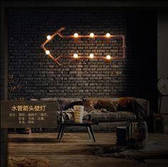 Aliexpress.com: Acheter Personnalité Creative Loft Style Flèches Tuyau Chambre Murale Salon Chambre Lumière Café Lampe Barres Lumière Livraison Gratuite de lumière lampe de lecture fiable fournisseurs sur UYILI Lighting Co., Ltd