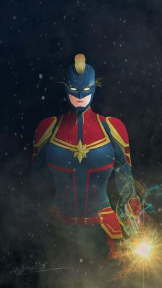 Captain Marvel Art IPhone Wallpaper - IPhone Wallpapers