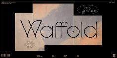 Waffold - Free Typeface on Behance Typography Letters, Graphic Design Typography, Lettering, Free Typeface, Design Digital, Free Fonts Download, Font Free, Design Projects, Creative