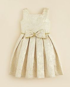 Kleinfeld Pink Girls' Morgan Rose Embossed Dress - Sizes 4-6X   Bloomingdale's