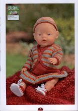 Album Archive - Dukketøj til Baby Born 2 - Ingelise Knitted Doll Patterns, Knitted Dolls, Baby Knitting Patterns, Baby Born, Album, Dress Making, Doll Clothes, Archive, Crochet Hats
