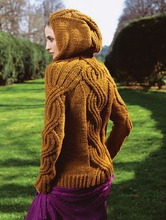 vogue knitting, great hoodie, has an elvish style
