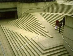 Robson Square in Vancouver, Canada: What a wonderful solution to address the ADA issues.....it's like a piece of art.