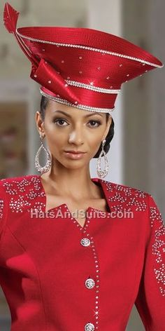 Best Sellers - Couture Hats, Women Suits, Church Suits, women Dresses and Updated Casual Wear & Denim Church Suits And Hats, Church Attire, Church Hats, Church Outfits, Church Clothes, Fancy Hats, Cute Hats, Red Hat Society, Fascinator Hats