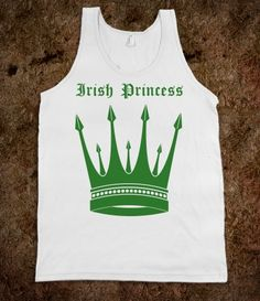 Irish Princess Green Tshirt for St Patricks Day