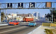 """, in the when Long Beach was still called """"Iowa by the Sea. Usa Street, San Luis Obispo County, Vintage Landscape, Los Angeles Area, Great Photographers, Train Tracks, Car Photos, Vintage Pictures, Public Transport"""