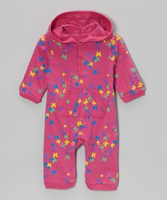 Take a look at this Pink Butterfly Hooded Playsuit - Infant I bought at zulily today!