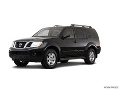 Black Nissan Pathfinder 2012 - never drove this but I'm interested in the feel of it. Gas mileage isn't impressive but I like the look, and the packages need to improve because they aren't offering as much as other SUVs for the price.