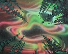 Jasyn Lucas Canadian Artist Aurora Borealis Paintings Original acrylic painting from talented First Nation Artist Jasyn Lucas. Using vibrant colours Jasyn depicts Canadian scenes in an almost surreal fashion. Vibrant Colors, Colours, Canadian Artists, First Nations, Aurora Borealis, Corporate Gifts, Surrealism, Northern Lights, Unique Gifts