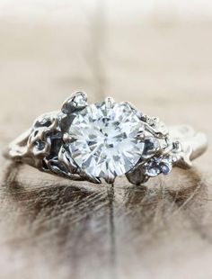 nature inspired engagement ring sundara ken dana design see more devi - Nature Inspired Wedding Rings
