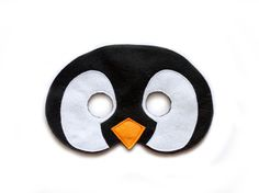 PENGUIN Felt Mask  Penguins of Madagascar inspired by UmmuHandMade