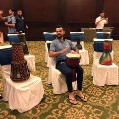 Beat it: Kohli, Dhoni jam with drums