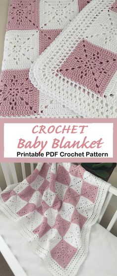 crochet baby blanket pattern- A Crafty Life Looking for new crochet baby blanket patterns to try? There are lots of different crochet blanket patterns to try, perfect for a boy or girl. Baby Girl Crochet Blanket, Crochet Blanket Patterns, Baby Patterns, Crochet Baby Blankets, Baby Afghans, Diy Couture Cadeau, Tissu Minky, Kids Blankets, Crochet Quilt