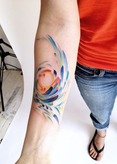 I love watercolor tattoos!!