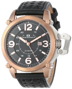 Oceanaut Men's OC4111 Analog Quartz Black Watch