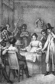 Marie Anne Lenormand        M.lle Lenormand cartomate dell'Impero        da La Sibylle au congrès d'Aix-La-Chapelle        Parigi, 1817