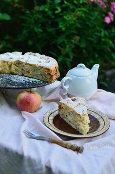 jabłecznik ucierany, jabłecznik, szarlotka, ciasto z jabłkami