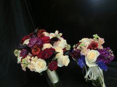 Thursday wedding at the Tulsa rose gardens-burgundy, cream and purple