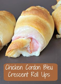 Looking for a super easy snack that can be whipped up in a hurry? Our Chicken Cordon Bleu Crescent Roll Ups are fast, easy and oh so delicious! Easy Snacks, Easy Meals, Crescent Roll Recipes, Cresent Roll Appetizers, Pilsbury Crescent Recipes, Gluten Free Crescent Rolls, Pillsbury Recipes, Tater Tots, Clean Eating Snacks