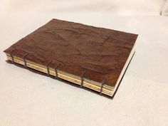 Faux Leather coptic stitched book