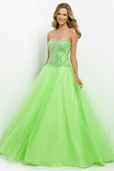 Smart Prom Dresses Princess/A Line Floor Length With Rhinestone Beaded Bodice