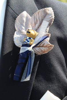 Nittany Lion Boutonniere - Penn State Wedding - Splendid Stems Floral Designs
