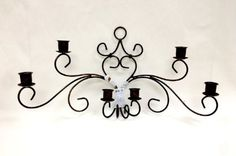 New Tuscany Garden Collection, Metal Wall Candle Holder, 63712 BY ACK - Amazon.com Wall Candle Holders, Wall Lights, Ceiling Lights, Home Board, Tuscan Decorating, Tuscan Style, Stone Tiles, Candle Sconces, Tuscany