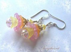 Lovely Faerie Flower Earrings by Chaeyahne B | eBay