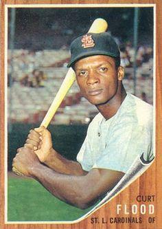 curt flood baseball card   1962 Topps Curt Flood #590 Baseball Card Value Price Guide