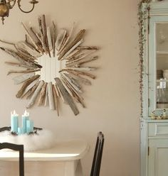 Sunburst mirror (just saw these in Ballards catalog and loved them.  Might be fun to make too.  Link to the tutorial