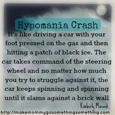 hypomania bipolar ii | You want to cry and shout and thrash and hide and sleep and pray that ...