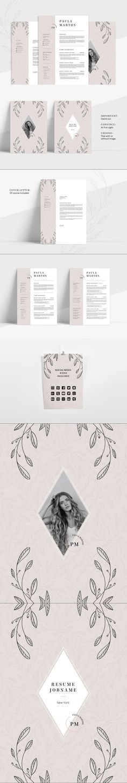 FLORAL Resume/CV + Cover Letter #ResumeFormat #cvtemplate #curriculum #indesign #female #readytouse #personal #ResumeTemplates #resume #stationery #ResumeTips #stationeries #photoshop #usletter #clean #job #cover #stationeries #msword Stationery Printing, Stationery Templates, Stationery Design, Resume Templates, Cv Design, Resume Design, Print Design, Best Resume Format, Cv Cover Letter