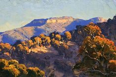 Bushfire renewal inspires top Australian  A painting of a mountainous landscape. PHOTO: Fuller's paintings can be found in collections around the world. (Supplied: Warwick Fuller)