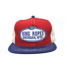 5c4c334d King Ropes Cap Red White Blue Mesh Back Trucker Cap OSFM (one size fits most
