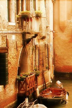 Venitian balcony, Italy -- it reminds me of Romeo & Juliet although the story takes place in Verona & Mantua (I think!).
