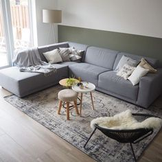 If you planning to buy new furniture for your living room, then most probably you have already thought about the furniture layout in your mind or else you have probably thought of repeating the sam… Living Room Plan, Living Room Furniture Layout, Rugs In Living Room, Home And Living, Home Furniture, Flat Interior, Interior Design, Beautiful Living Rooms, Living Room Inspiration