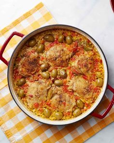 Arroz Con Pollo - very tasy.  Made it without olives and substituted red wine for white as well as tumeric for saffron.