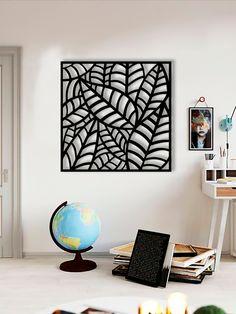 Wooden Wall Art, Metal Wall Decor, Wood Art, Wall Ornaments, Leaf Wall Art, Geometric Decor, Steel House, Iron Decor, Decorative Panels