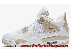 447b2bd75882 Air Jordan 4 Retro 487724-118 Chaussures Jordan Basket Pas Cher Pour Homme  Blanc Or