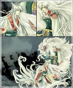 Sesshomaru and Yoko Kurama - Inuyasha Fan Art (32901663) - Fanpop