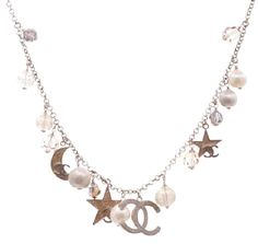 Chanel Chanel Gold-Tone Moon & Stars Charm Necklace ...