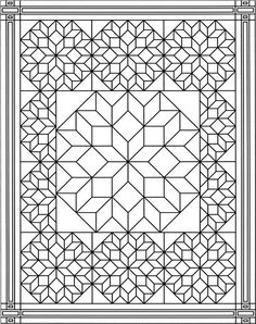 Geometric This Would Be Great To Put On The Cover Of A Notebook Quilt Block Coloring Pages