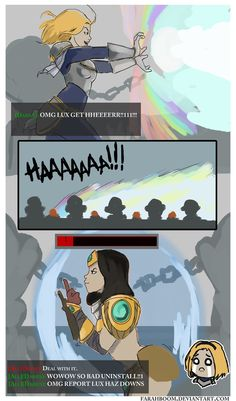 Adventures of ARAM 2 by FarahBoom on DeviantArt - Lux vs Sivir