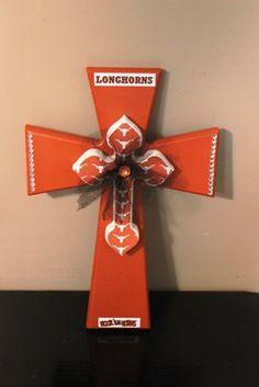 Texas Longhorn Decorative Cross by CrossesbyDD on Etsy, $25.00